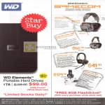 Various WD Elements External Storage, Plantronics Gamecom