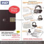Various WD Elements External Storage, Plantronics Gamecom