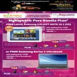 MyRepublic 100Mbps Pure Bundle Fibre Broadband Free Samsung Galaxy Note 10.1, Samsung Series 5 Ultrabook