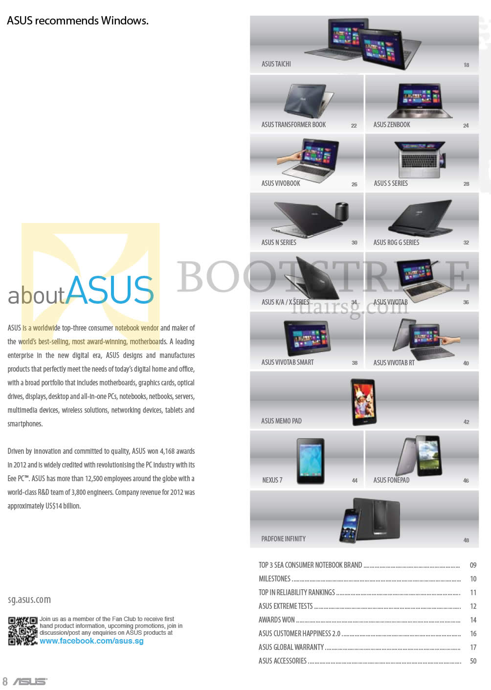 COMEX 2013 price list image brochure of ASUS About