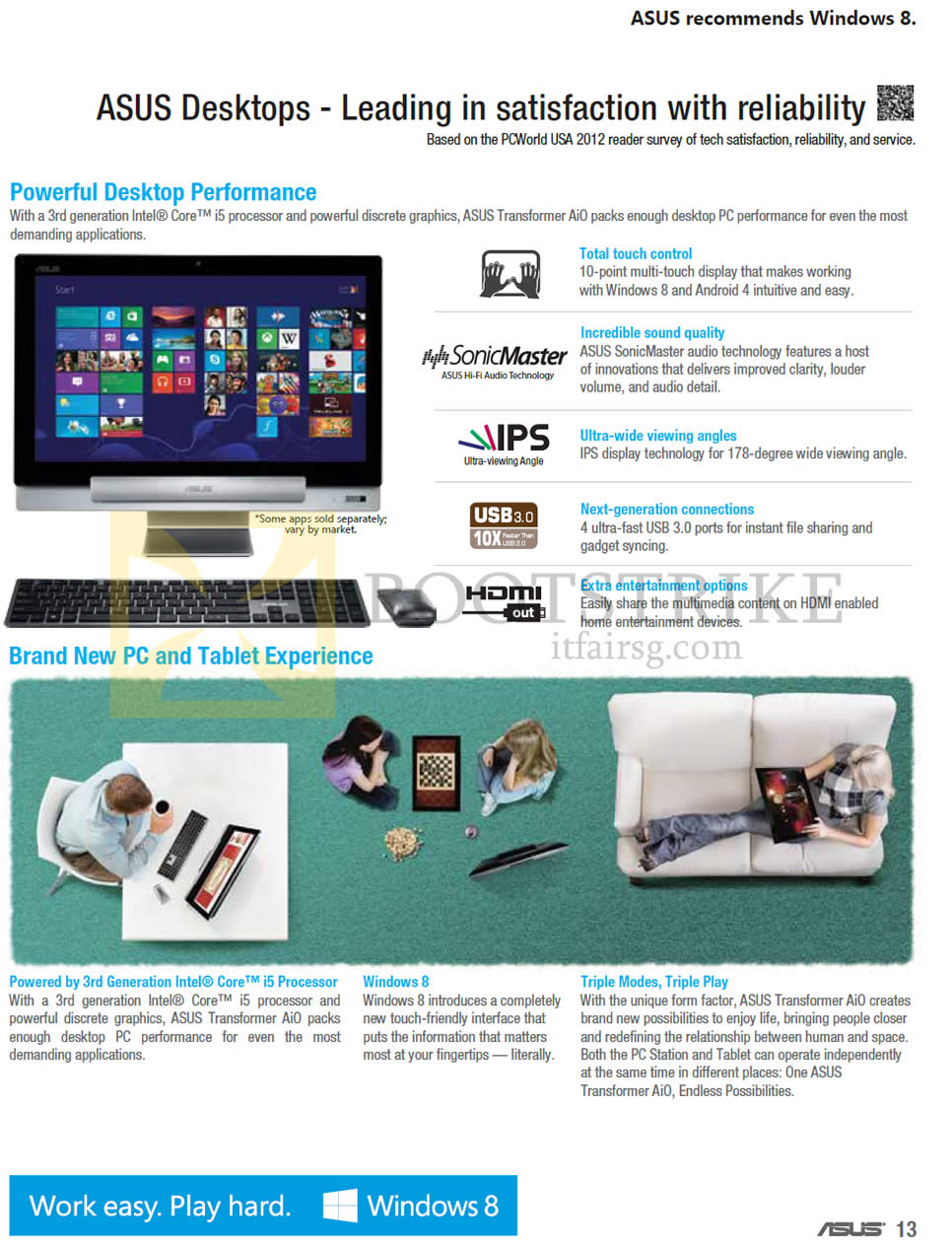 COMEX 2013 price list image brochure of ASUS Desktop PCs Performance, Features, Tablet Experience