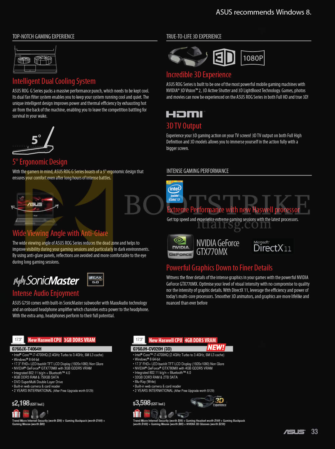 COMEX 2013 price list image brochure of ASUS Notebooks ROG Series G750JX-T4064H, G750JH-CV020H