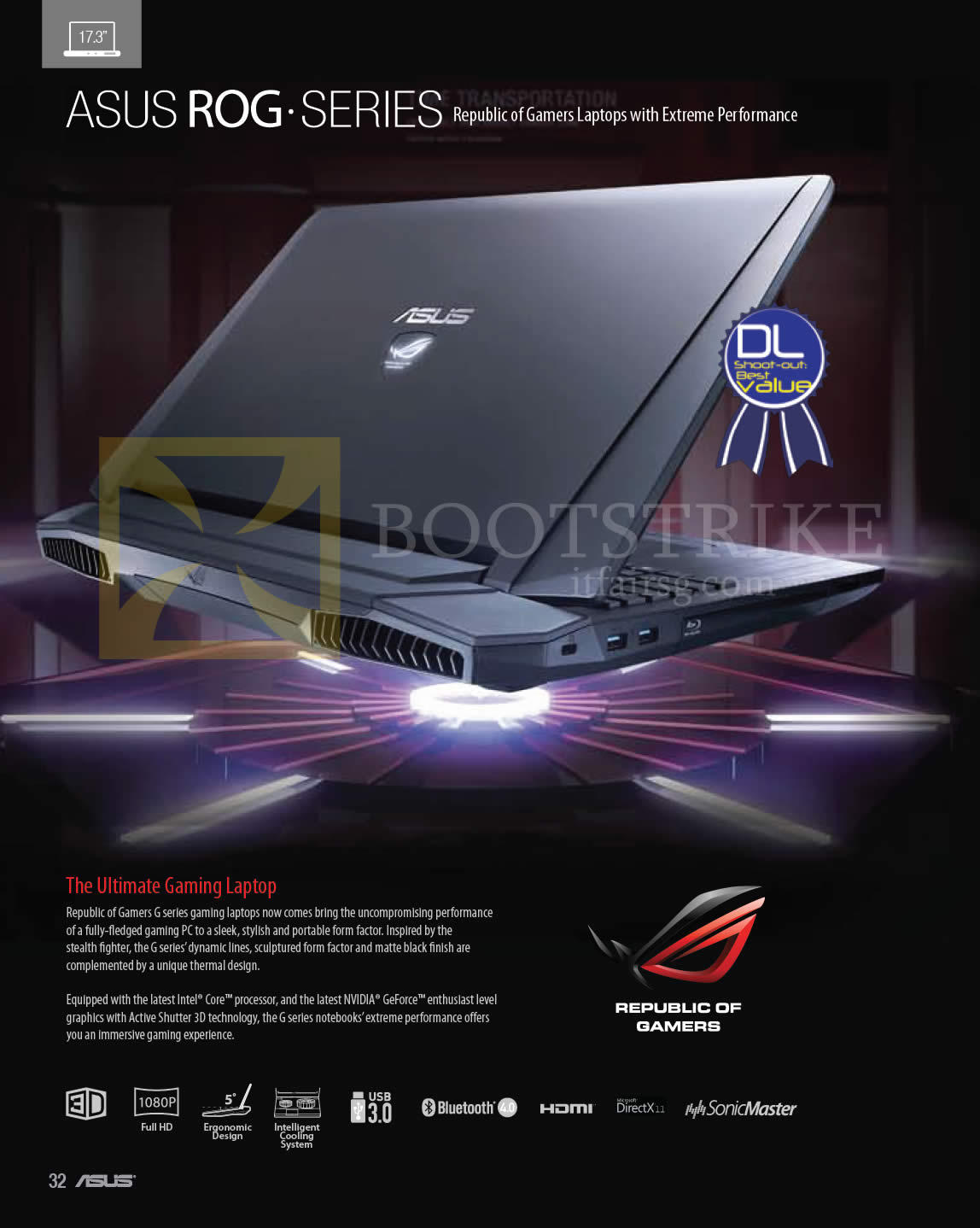 COMEX 2013 price list image brochure of ASUS Notebooks ROG Series