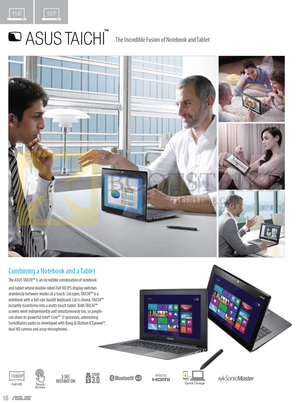 COMEX 2013 price list image brochure of ASUS Notebooks Taichi