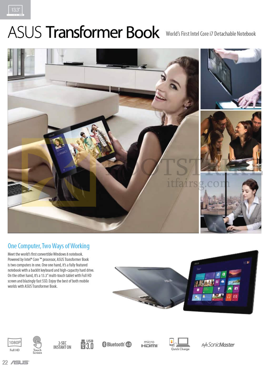COMEX 2013 price list image brochure of ASUS Notebooks Transformer Book