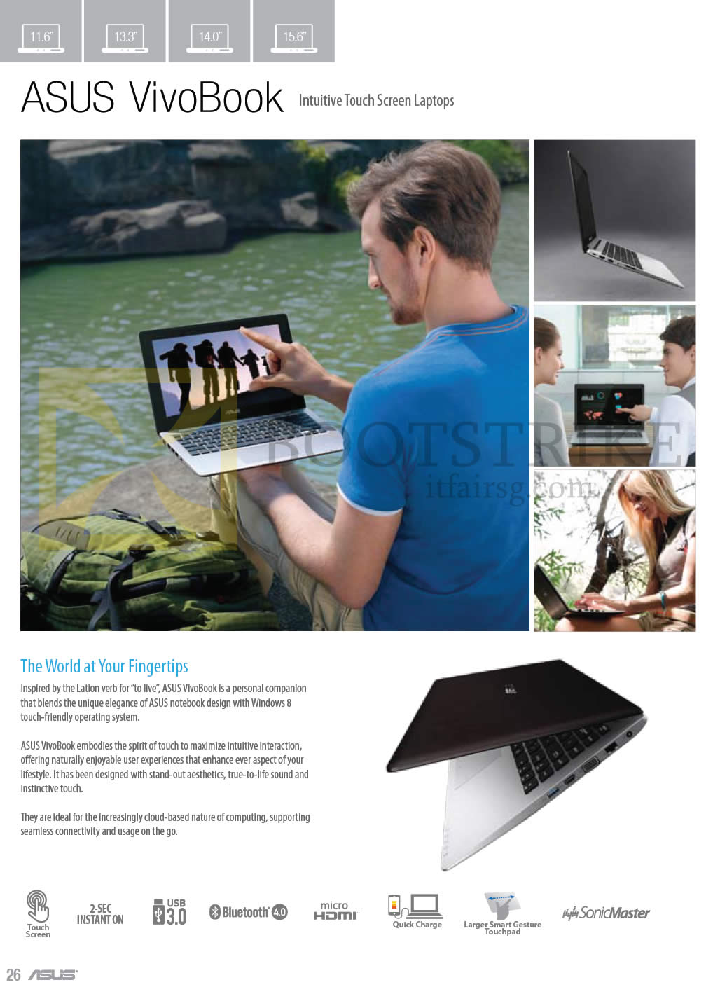 COMEX 2013 price list image brochure of ASUS Notebooks VivoBook