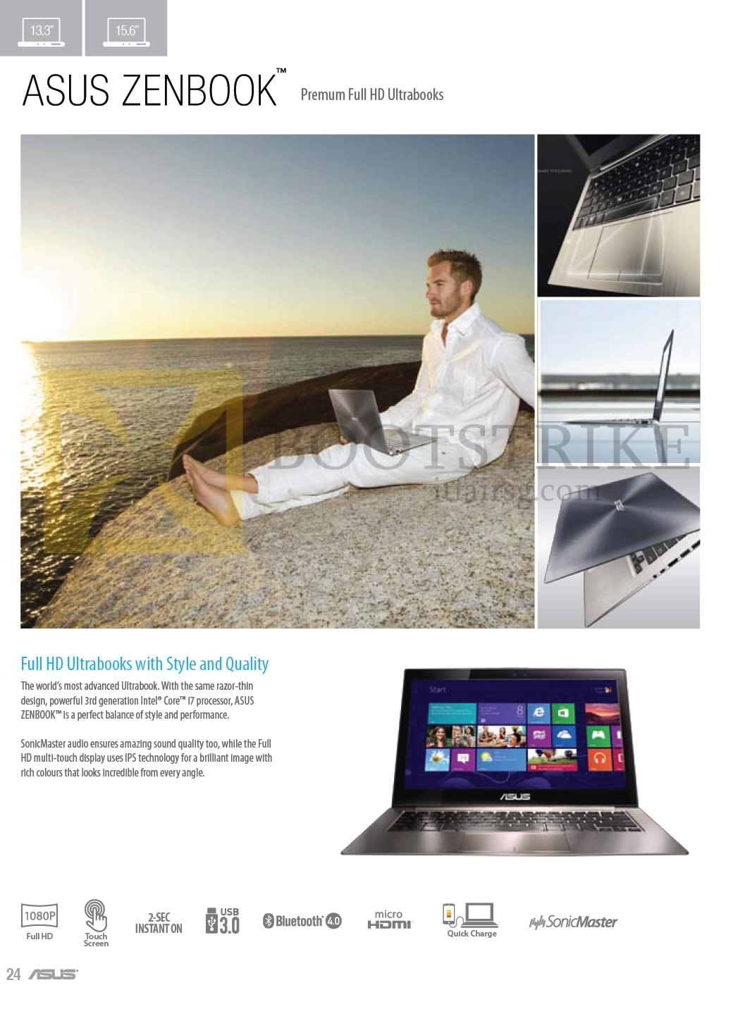 COMEX 2013 price list image brochure of ASUS Notebooks Zenbook