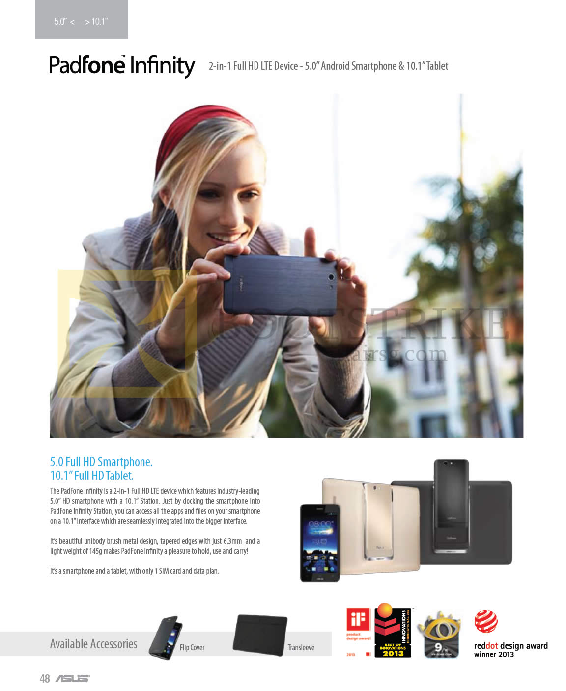 COMEX 2013 price list image brochure of ASUS Tablet Smartphone PadFone Infinity
