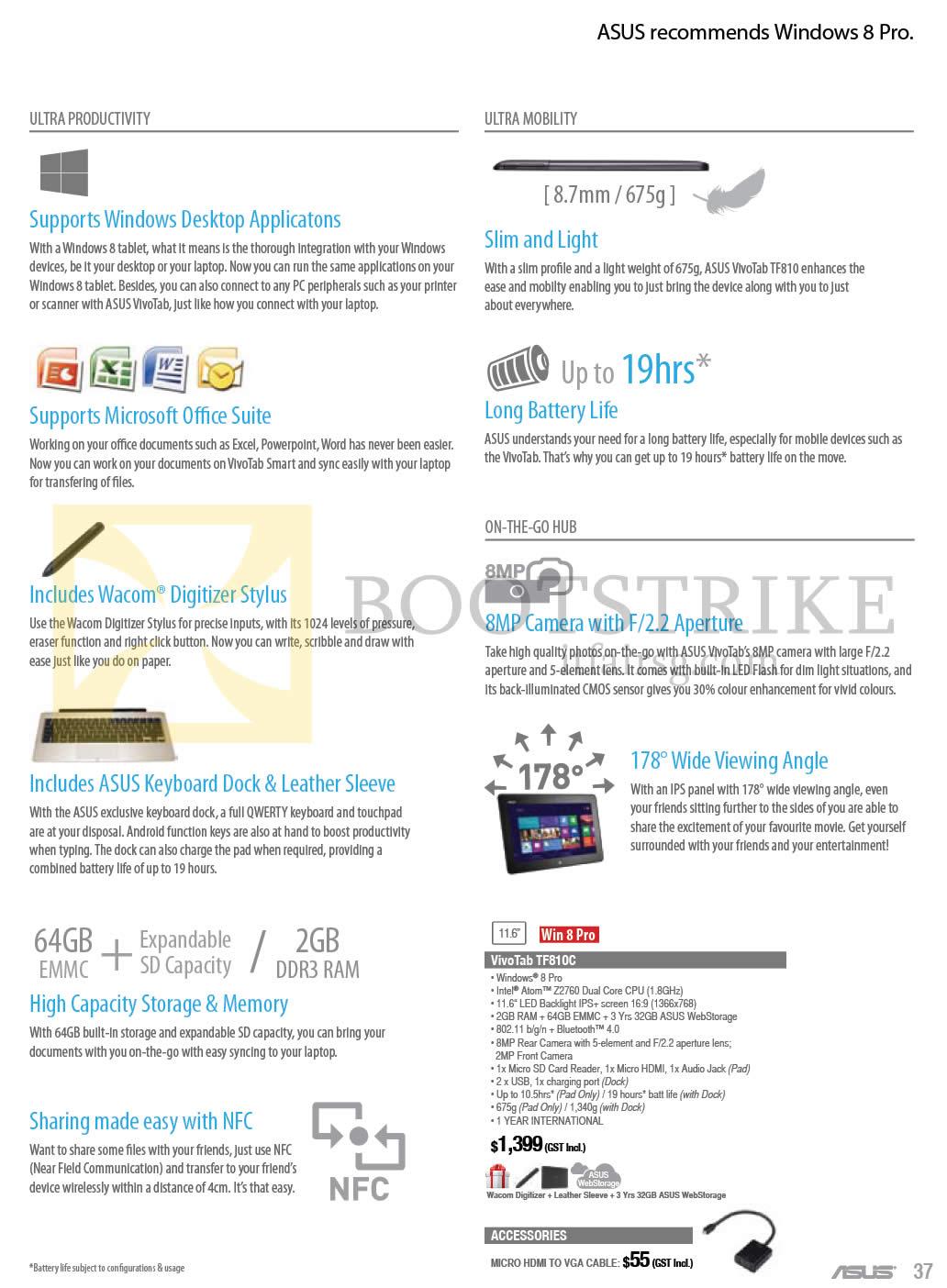 Asus Tablets Features Vivotab Tf810c Comex 2013 Price