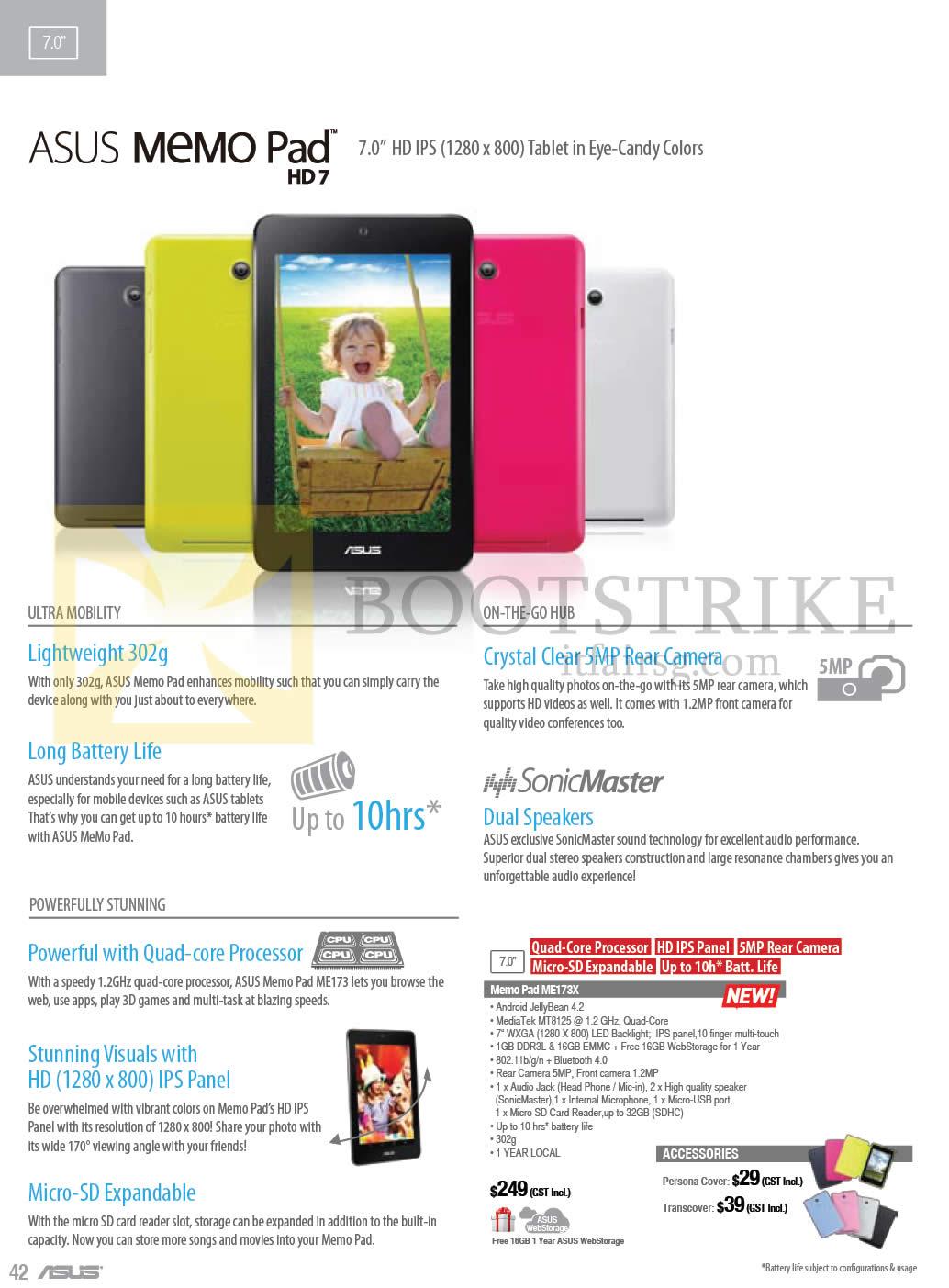 ASUS Tablets Memo Pad HD 7 ME173X COMEX 2013 Price List
