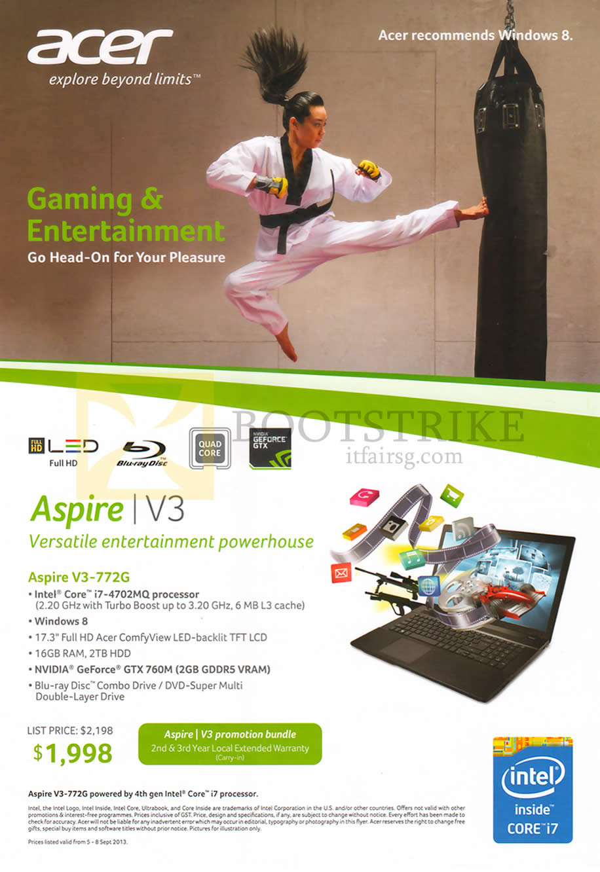 COMEX 2013 price list image brochure of Acer Aspire V3-772G Notebook
