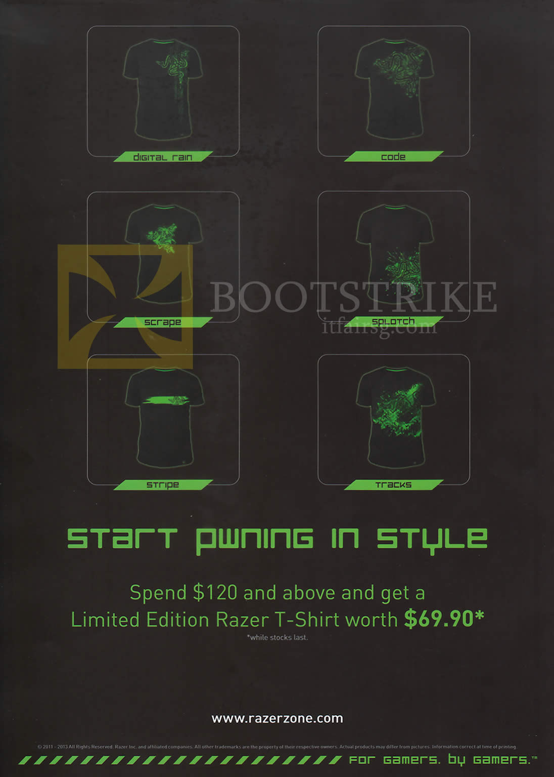 COMEX 2013 price list image brochure of Ban Leong Razer Spend 120 Dollar Free Razer T Shirt