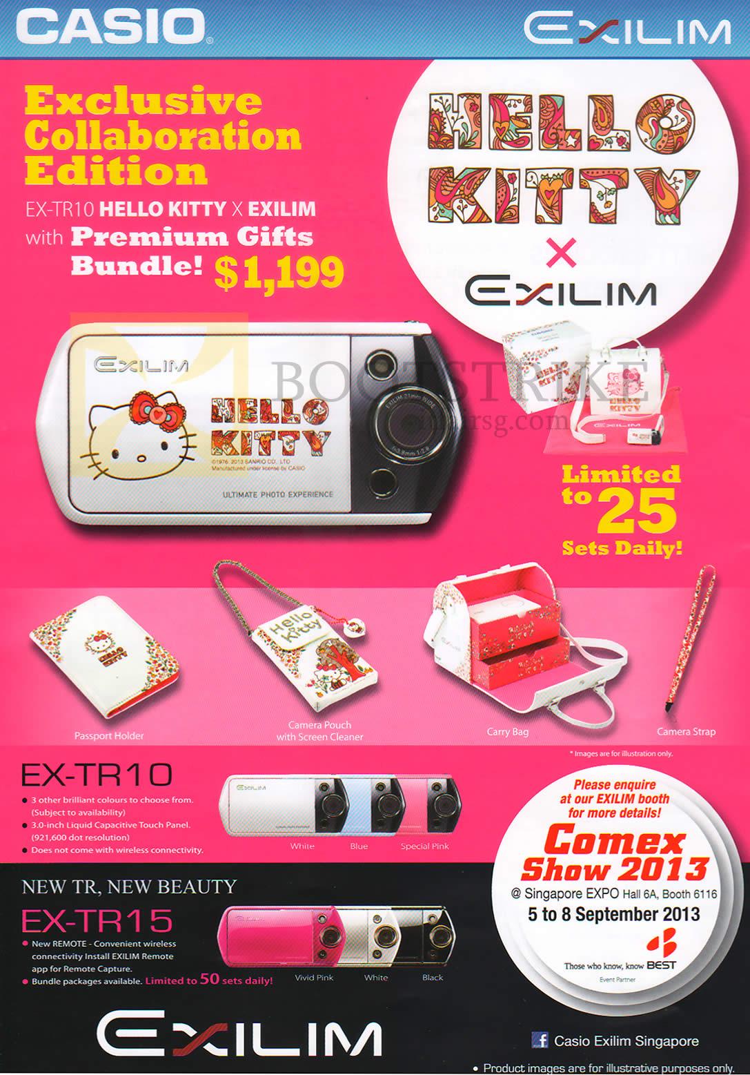 7d0f07920fd5 Casio Digital Cameras Exilim EX-TR10 Hello Kitty X Exilim Limited ...