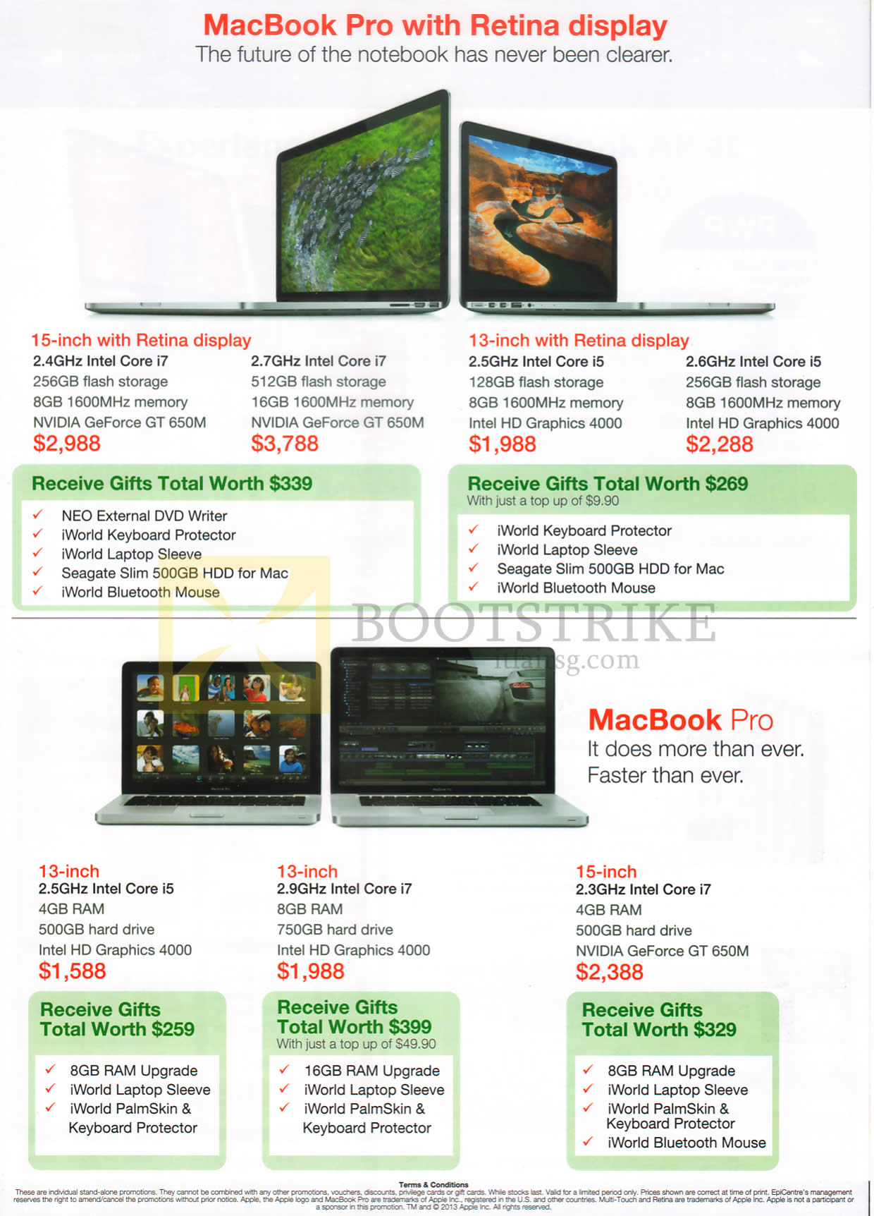 COMEX 2013 price list image brochure of EpiCentre Apple Macbook Pro Notebooks