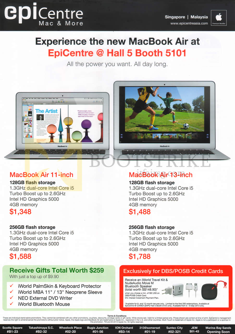 COMEX 2013 price list image brochure of Epicentre Apple MacBook Air Notebooks
