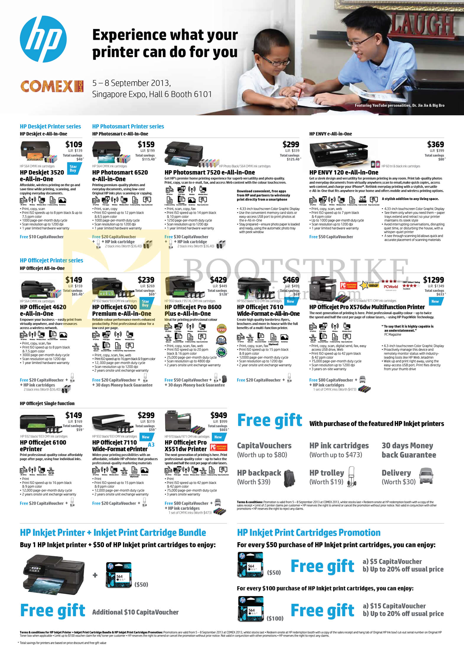 EX 2013 price list image brochure of HP Printers Deskjet 3520 smart 6520 7520