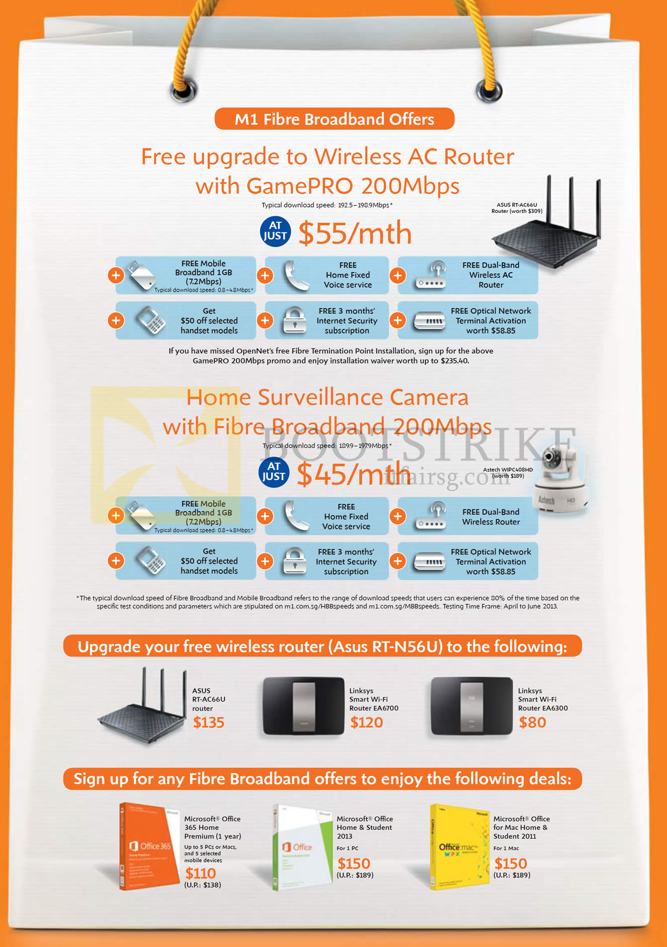 M1 Broadband Fibre Free Wireless AC Rounter GamePro 200Mbps, Home ...