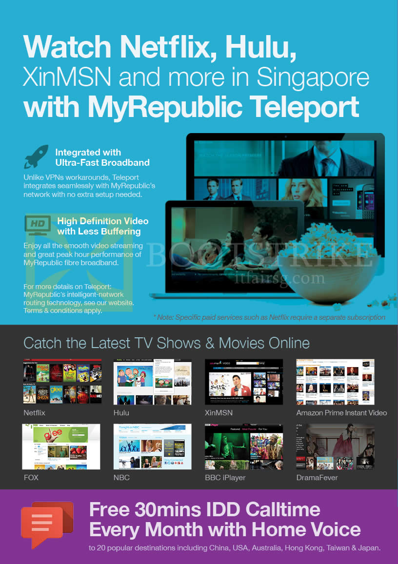 Myrepublic teleport tv home voice free idd comex 2013 for Price my house free online