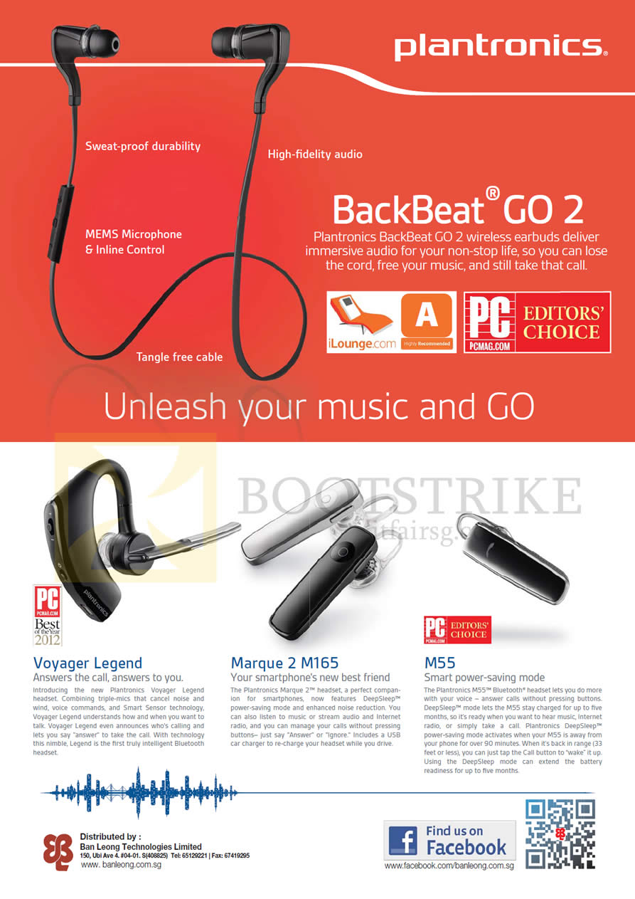 Plantronics Bluetooth Headsets Features Backbeat Go 2 Voyager Headset Stereo Legend Comex 2013 Price List Image Brochure Of