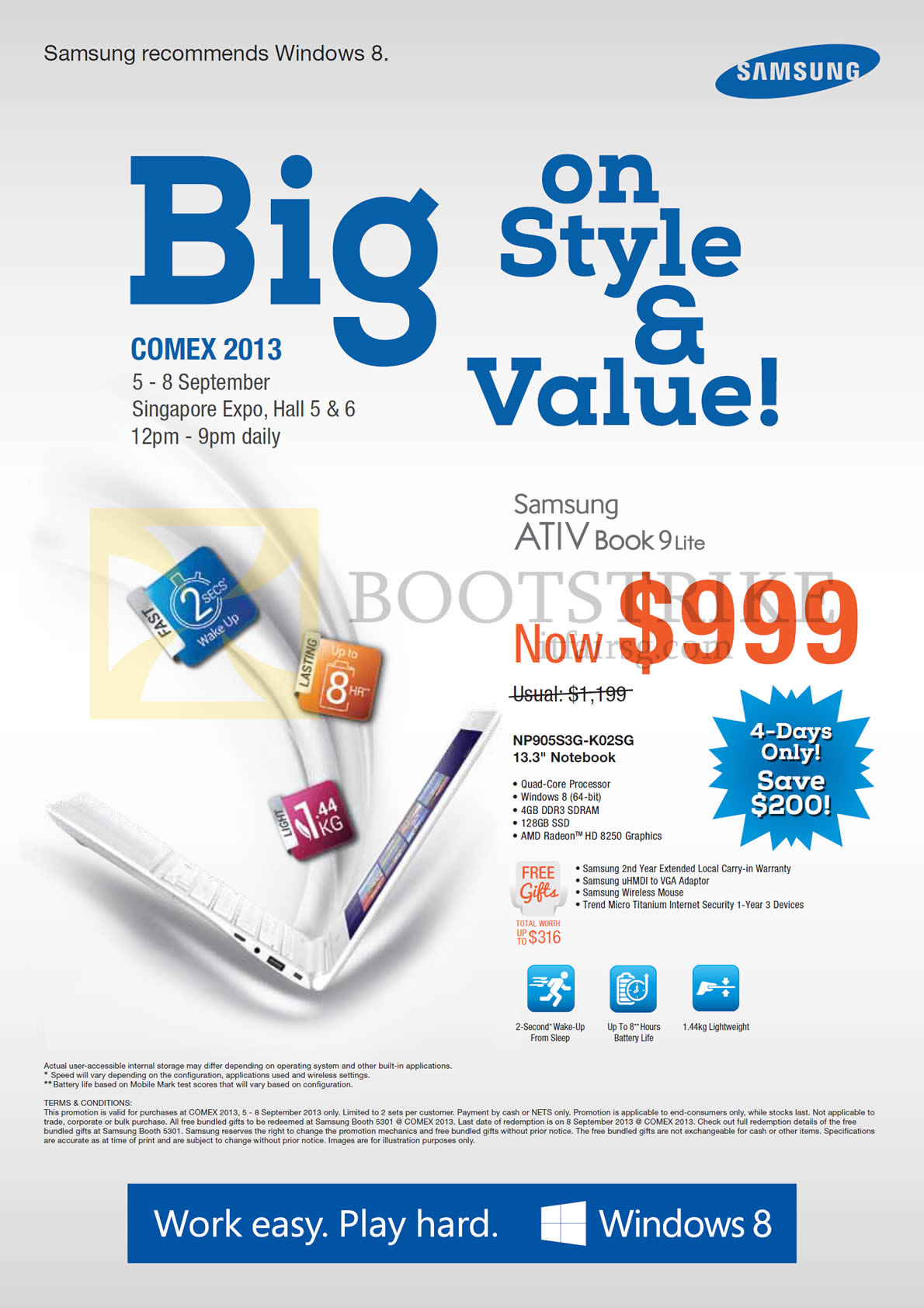 Samsung notebook in singapore - Comex 2013 Price List Image Brochure Of Samsung Notebooks Ativ Book 9 Lite Np905s3g K02sg