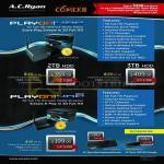 AC Ryan Media Players PlayOn HD3 ACR-PV73901 2TB 3TB, PlayOn HD2 Mini ACR-PV73920, Keyboard, Wifi Dongle