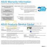 Desktop PC, Networking, Accessories Warranty, Service Centres