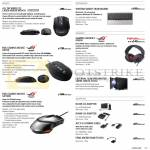 Notebooks Accessories Mouse WX470, ROG GX950, GX1000, Orion Headset, External Optical Drive, Adapters