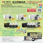 ACTi Edimax Foscam Network Video Recorder, Network Surveillance Cameras