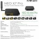 Media Players Minix Neo X7 Pro, Neo X5 Mini Pro, Specifications