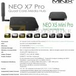 Media Players Minix Neo X7 Pro, Neo X5 Mini Pro, Specifications