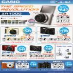 Casio Digital Cameras Exilim ZR400, Z420, ZR1000, ZR800, ZR700, JE10, H50