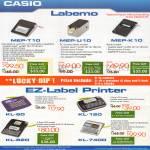 Casio Labellers MEP-T10, MEP-U10, MEP-K10, KL-60, KL-120, KL-820, KL-7400