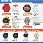 Casio Watches G-Shock GA-110AC-4DR, Baby-G BGA-153M-1BDR, Edifice EFR-528RB-1ADR, Sheen SHN-5008D-7ADR