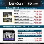 Flash Memory Lexar MicroSDHC, Platinum II SDHC
