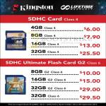 Kingston SDHC Memory, Flash Memory