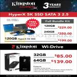 Kingston SSD HyperX 5K Sata 3, Wi-Drive