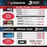 Kingston SSD, Crucial M500