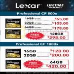 Lexar Professional CompactFlash CF Flash Memory
