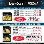 Lexar SDHC Flash Memory 16GB 32GB 64GB