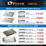 Plextor M5Pro SSD, M5S, MSata