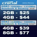 RAM Memory Crucial DDR3