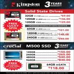 SSD Kingston, Crucial M500 SSD