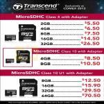 Transcend MicroSDHC Flash Memory