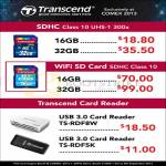 Transcend SDHC Flash Memory, Wifi SDCard, Card Reader