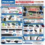 Prolink USB Hubs, Mouse, Keyboards, Speakers,LED Monitor, Wireless Pointers, Presenter, Sharehub Device Servers