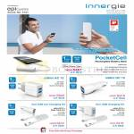 Innergie External Chargers PocketCell, MMini AC15, DC10, Duo USB Car Charging Kit, Magic Cable Duo