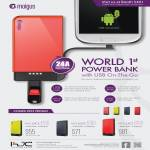Moigus External Charger Power Bank Moi Juice 4100, 6100, 8100