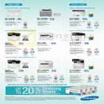 Printers Laser ML-2165W, ML-3310ND, CLP-365W, Xpress M2675N M2675FN, CLX-3305FW, SCX-3405FW, SCX-3405, CLX-6260FD