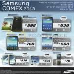 Smartphones Galaxy S4, S4 Actve, Mega, Note II LTE, S III LTE, C3520