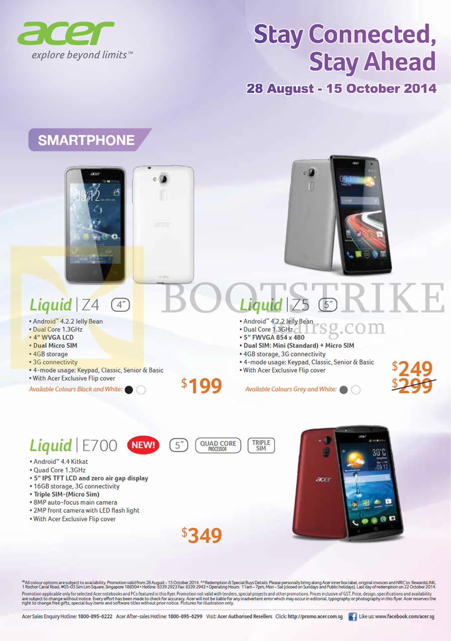 d843adc2c97 COMEX 2014 price list image brochure of Acer Smartphones Liquid Z4